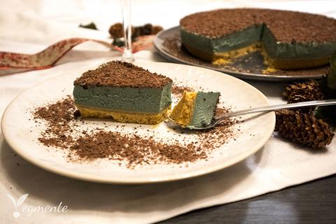 cheesecake vegan com espirulina e chantilly receita facil